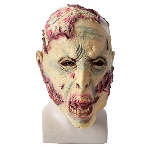Horror Mask Zombie Mask Latex Biochemical Monster Scary Mask Suit for Costume Party Halloween Props