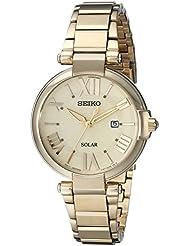 Seiko Womens SUT176 Analog Display Japanese Quartz Gold Watch