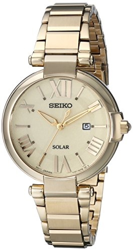 Seiko Women's SUT176 Analog Display Japanese Quartz Gold Watch