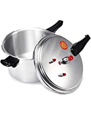 3/4/5L Aluminium Alloy Pressure Cooker Soup Meats Pot Gas Stove Cooking Energy-Saving Safety Protection Outdoor Camping Cookware