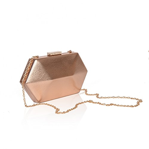 Women London Bag Evening Rose for Leather Gold Vegan 'Royale' LaBante Clutch YqFUf7Wnn8