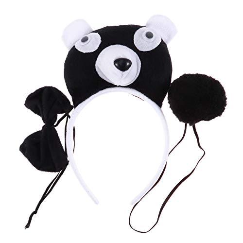 Amosfun Halloween Masquarade Panda Costume Props Set Cosplay Performance Dress up Headband Hair Accessories Party Animal Costume Accessory 3PCS]()