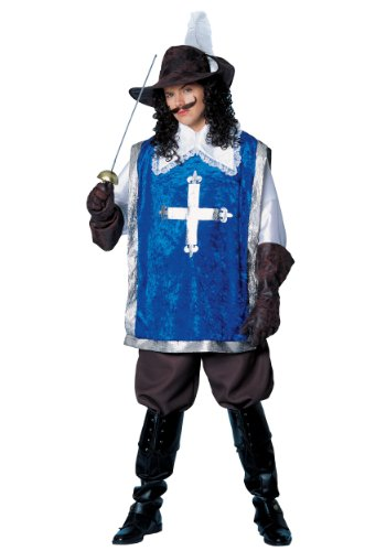 Costume Culture Men's Musketeer Costume, Blue, Standard ()