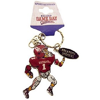 NCAA Oklahoma Sooners Metal Movable Player Keychain