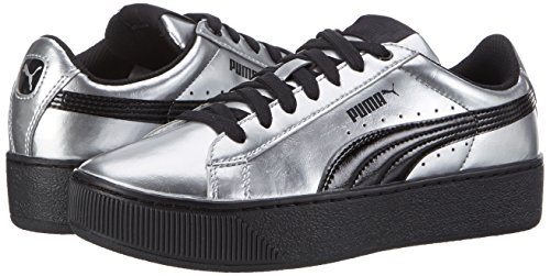 Platform puma Black Sneaker Metallic puma 02 Silver Grigio Donna Vikky Puma qCZ5RR