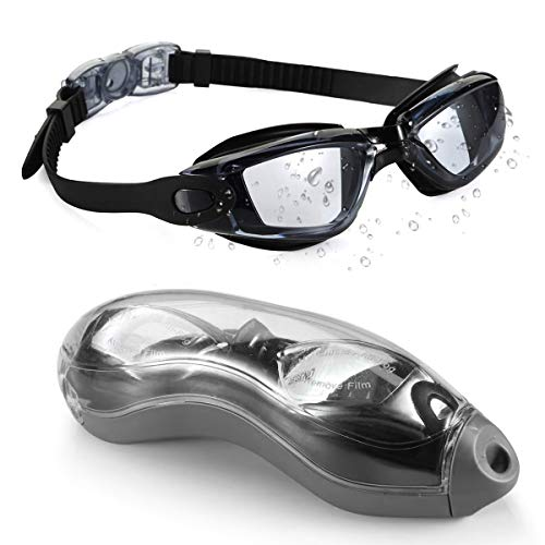 Swimming Goggles Adult, Swim Goggles Anti Fog No Leaking UV Protection with Wide View for Men Women Youth (Best Swimming Goggles In The World)