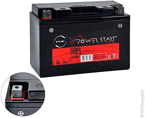 NX s Batterie Batterie moto YT9B-4 // YT9B-BS 12V 8Ah