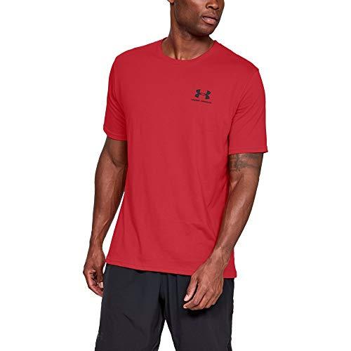 Under Armour Men's Sportstyle Left Chest T-Shirt, Red (600)/Black, Medium