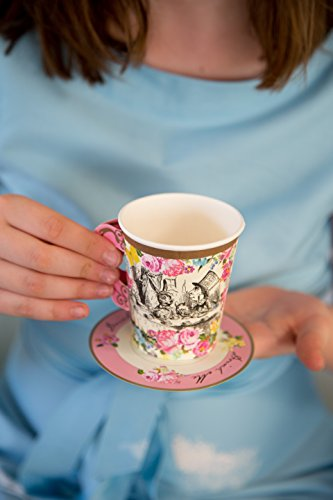 Talking Tables Truly Alice Mad Hatter Cup & Saucer for a Tea Party, Multicolor (12 Pack) by Talking Tables (Image #3)