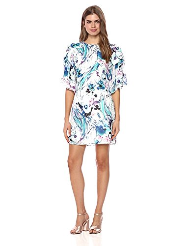 Wild Meadow Women's Abstract Floral Brushstroke Sheath Dress M Green Multi