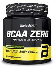 BioTech USA BCAA Zero - 1 pakje - vertakte keten aminozuren - spierregeneratie - vet, koolhydraten, gluten en lactosevrij (360g, Green Apple)