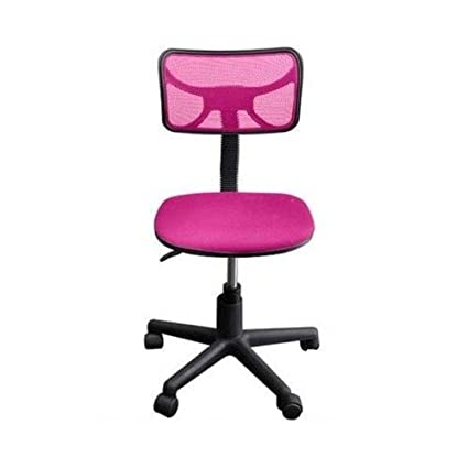 Pink Teen Office Desk Adjustable Height Swivel Chair