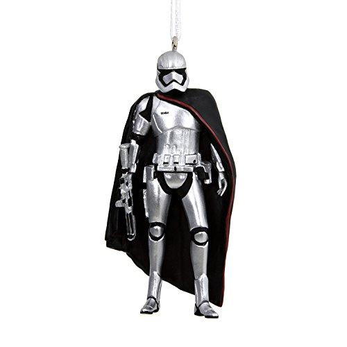 Hallmark Disney Lucasfilm Star Wars Captain Phasma Christmas Ornament, Darth Vader (Blown Glass)