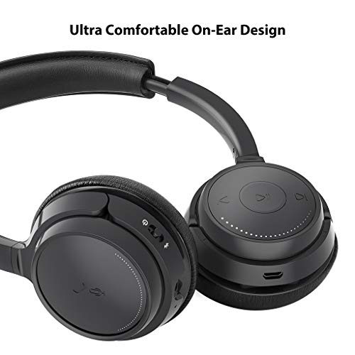 New Headset Wireless Smart Phone Stereo Music For: [2019 New!] Avantree AH6B Bluetooth On Ear Headphones With