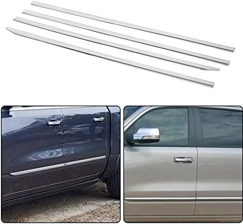Ghxsport Stick-on Window Sill+Body Side moldings for 2019-2020 Dodge RAM 1500 Crew 4DR