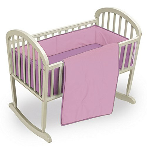 Babykidsbargains Reversible Cradle Bedding Set, Red/Navy, 18