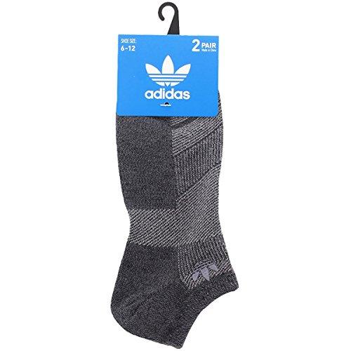 the latest b0ef3 a1538 adidas Men s Originals Prime Mesh No Show Sock (2-Pack), Dark Onix
