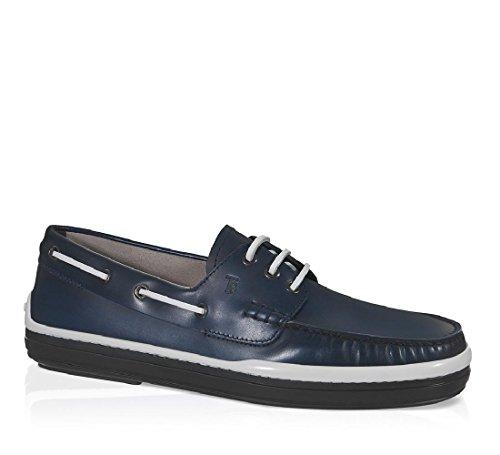Barco de zapatos hombres de Tod de cuero azul - Número de modelo: XXM0YR0P600BRXU803 Azul