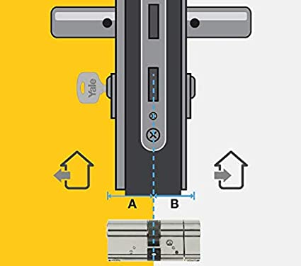 5 Goupilles 3 Cl/és Yale YC500+ Demi-Cylindre de Serrure 30x10 mm pour Porte Ext/érieure//Entr/ée//Garage Nickel/é