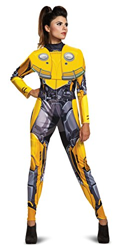 Disguise Women's Bumblebee Adult Female Bodysuit Costume, Yellow M (8-10) -