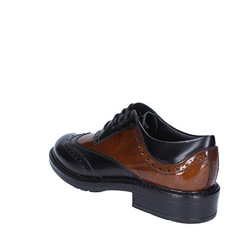 LA BOTTEGA DELLE PELLI - Zapatos de cordones de Piel para mujer negro / marrón