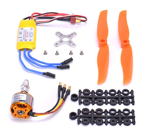 Esc Helicopter Rc - FPVKing 2212 2200KV Brushless Motor+30A ESC Electric Speed Controller+6030 Propeller for RC Fixed Wing Plane Helicopter