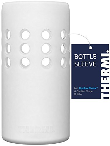 Thermi Protective Silicone Sleeve for Hydro Flask Water Bottles (Translucent White, 32oz)