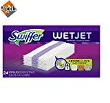 Swiffer Wetjet Hardwood Mop Pad Refills for Floor Mopping and Cleaning, All Purpose Multi Surface Floor Cleaning Product, 24 Count - 5 Pack