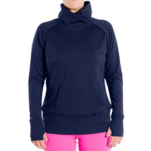 e54529fd813 Katie K Active Tops Stretch Women s Pullover Perfect Layer for Yoga Running  Walking Thumbholes Pocket Made