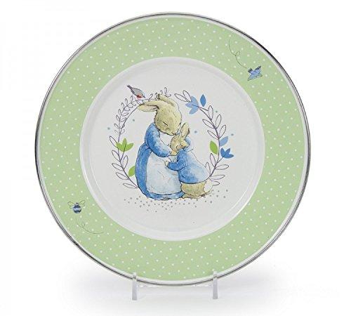 golden-rabbit-polka-dot-peter-rabbit-enamelware-8-1-2-inch-sandwich-child-plate
