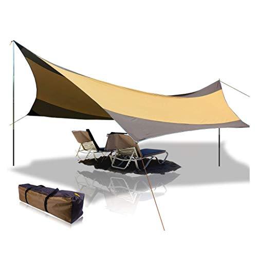 BaiYouDa Beach Tent Tarp 18x18 ft 5-8 Person Lightweight Shelter