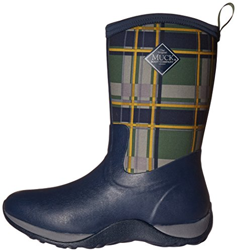 Muck Boots Arctic Weekend Print Rubber - Botas de Caucho Mujer, Color Azul, Talla 43.5 EU Navy/Green Plaid