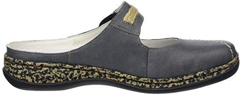 Rieker 46391 Damen Clogs Blau (Jeans)