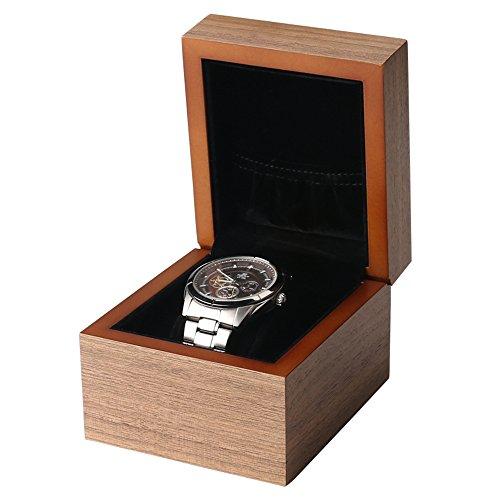 Ring Storage Bag Vintage Handmade Watch Box for Men/Women Watches (1 Slot) ()