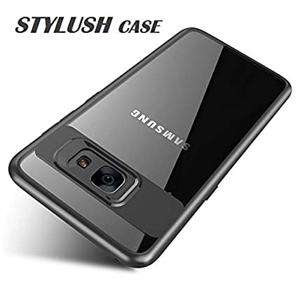pretty nice 2e492 7f554 STYLUSH Clear Back Complete Lens Protector Case Cover for Samsung Galaxy J7  Prime / J7 Prime 2 / ON Nxt/ON 7 - Black AUTO Focus