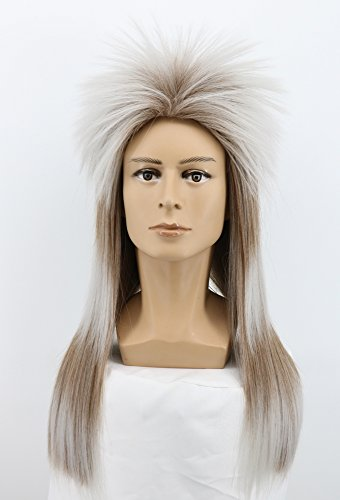 Yuehong Long Straight Rock Star Style Wigs Halloween Cosplay Wig Anime -