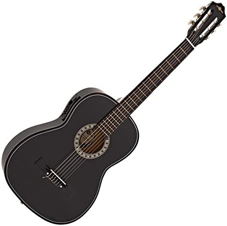 Guitarra Clasica Electroacustica de Gear4music Black