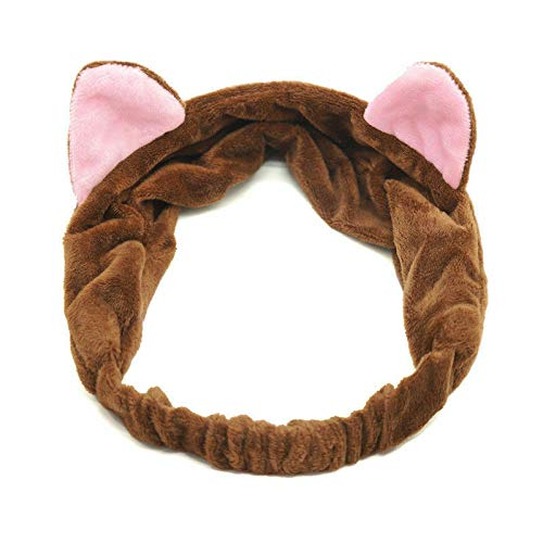 Fashion Women Turban Twist Knot Head Wrap Headband Twisted Knotted Hair Band (Main Colour - Cat Ears-Coffee)