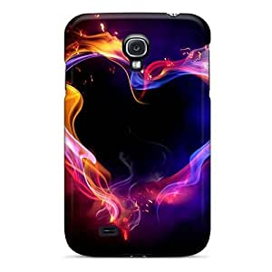 Abstract Heart Hd Case Compatible With Galaxy S4/ Hot Protection Case