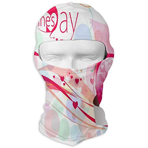 Balaclava Valentine's Day Theme Full Face Masks UV Protection Ski Hat Womens Headcover for Cycling