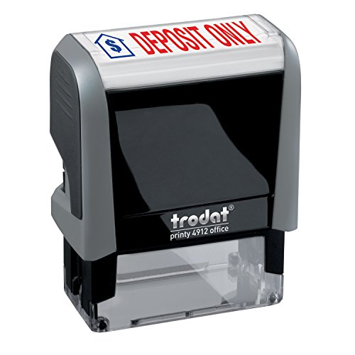 - Deposit ONLY Trodat Printy 4912 Self-Inking Two Color Stock Message Stamp