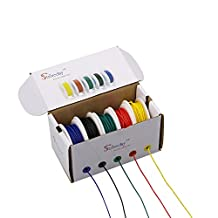 Striveday™ 18AWG 1007 Coper Hook Up Wire Electric wire 18 gauge 300V stranded wire cable DIY Kit BOX-1