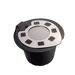 5 Cialde caffè ricaricabili, coperchio in acciaio inossidabile, capsula riutilizzabile cromata per macchine da caffè Nespresso