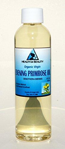 Evening Primrose Oil Organic Carrier Virgin Cold Pressed Pure 4 oz