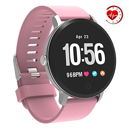 YoYoFit Smart Fitness Watch with Heart Rate Monitor, Waterproof Fitness Activity Tracker Step Counter with Music Player Control, Customized Face Look GPS Pedometer Watch for Women Men, Purple (Best Sports Heart Rate Monitor)