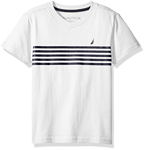 Nautica Short Sleeve Chest Stripe