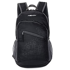 Best Foldable Ultra Lightweight Men and Women Handy Daypack For Travel, Camping, Outdoors, Hiking 33L(Black)