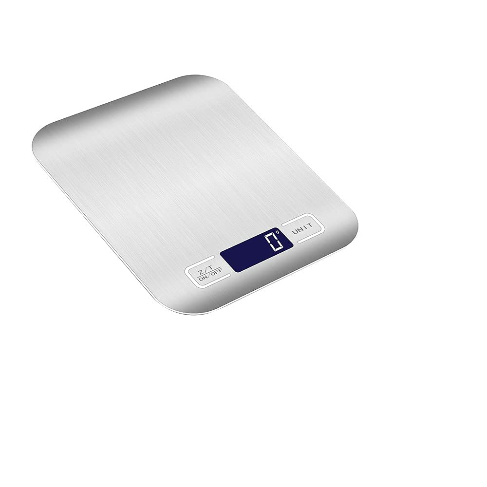 Digital Food Scale, Guiheng High Precision 11lb Kitchen Scale, Measures in Digital Grams and Ounces for Cooking and Baking Scale Portable, Stainless Surface