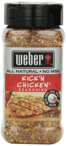 Weber Seasoning, Kick 'N Chicken, 7.25 Ounce - Kickin Chicken