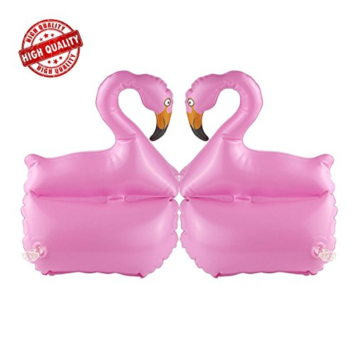 LAFALA Pool Floaties Swimming Armbands Inflatable Flamingo Swimming Pool Floaties Swim Wings Tube Perfect for Adults and Kids to Learning Swim , Pink ...